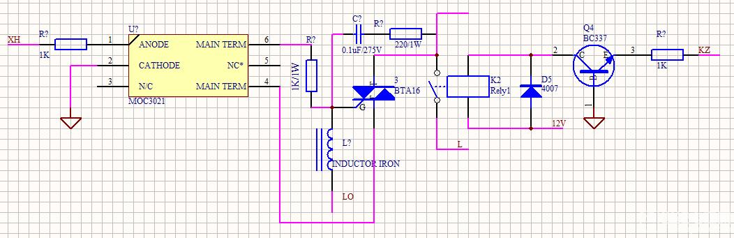 双向可控硅控制电路