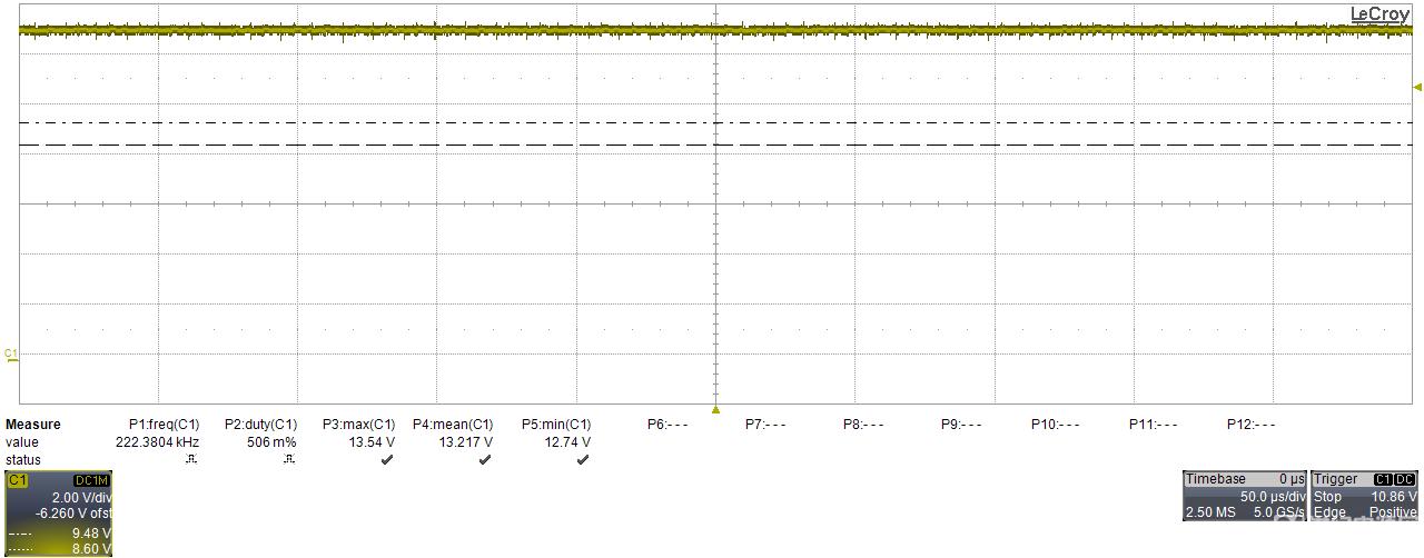 7脚处VC电压波形
