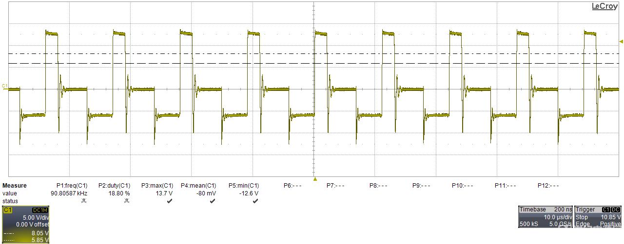 辅助供电端波形