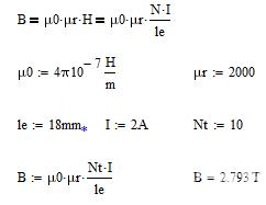 环形MN-ZN铁氧体B值计算