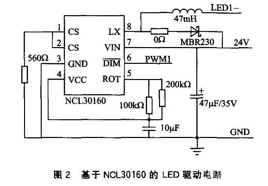 mos场效应管的脉冲宽度调制的浮动式降压转换器,可以为led光源提供