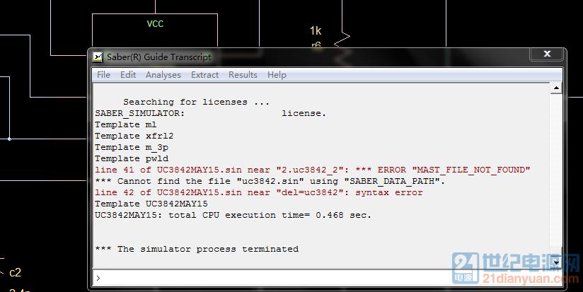 我仿真错误是缺少UC3842的模型文件
