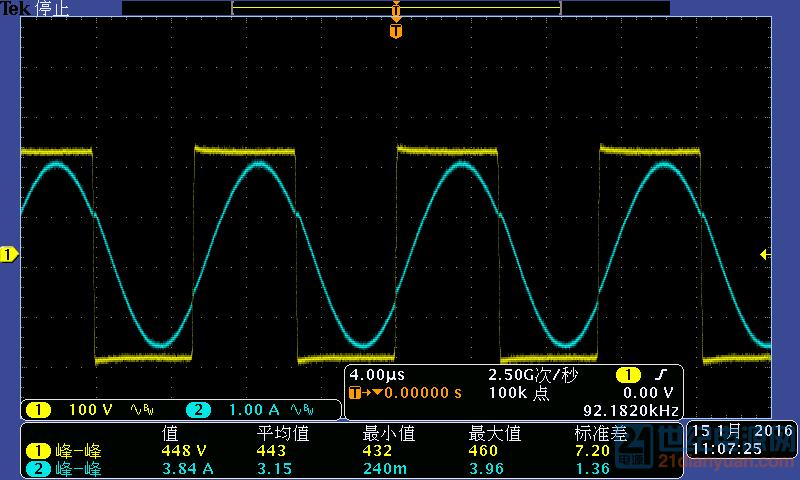 中点电压波形与谐振电流波形