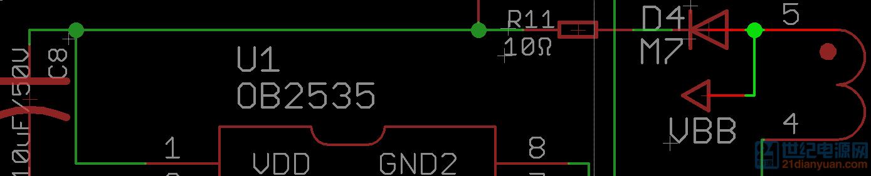 电源输入端二极管波形