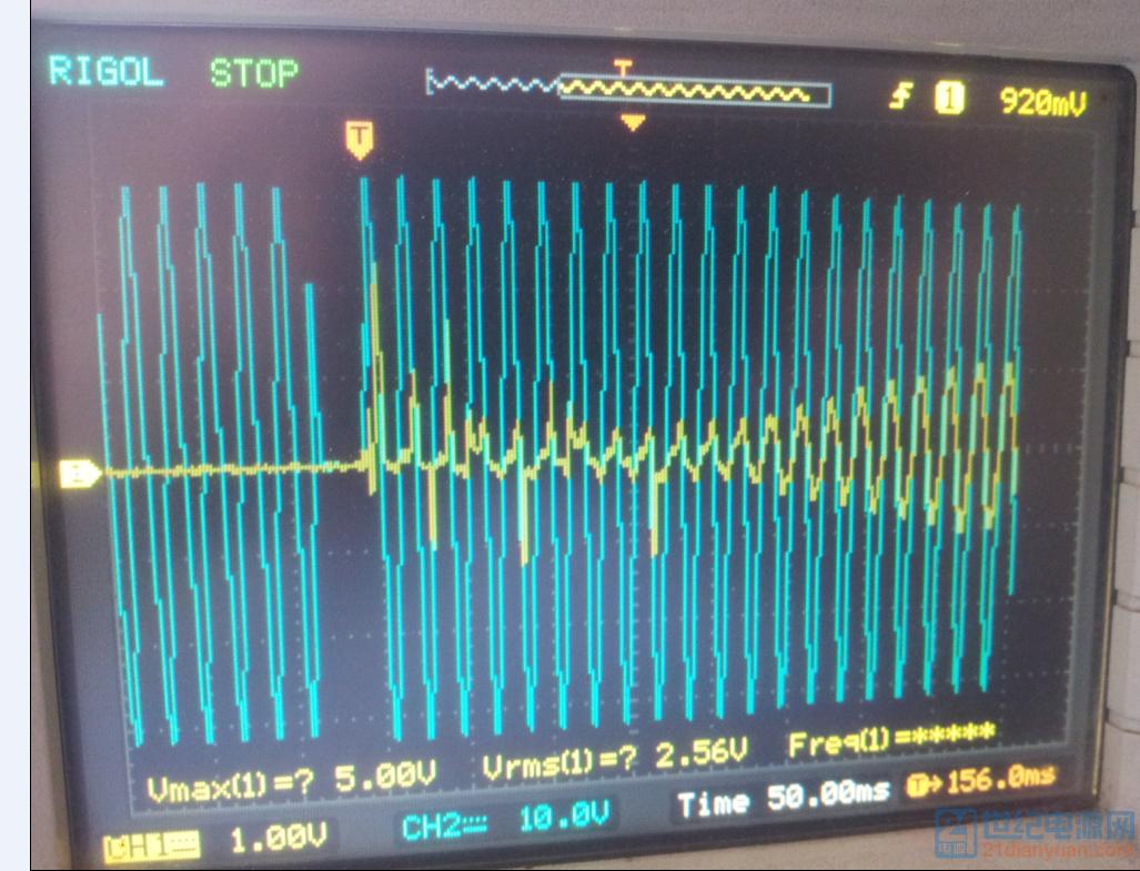 黄色为电流