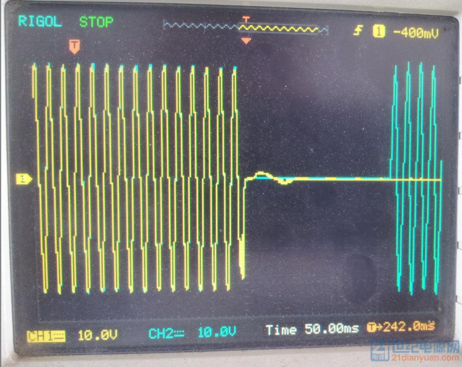 黄色主电,中间加了延时,用以保证继电器动作完成