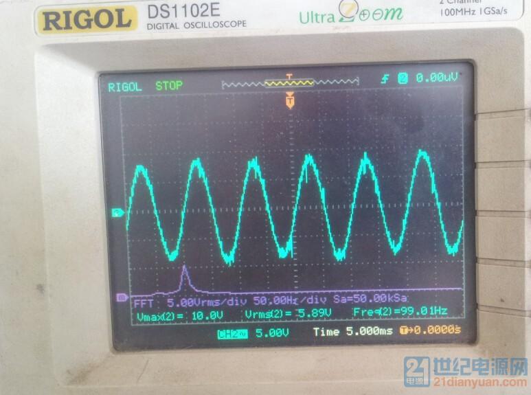 逆变12KW母线电压纹波.jpg