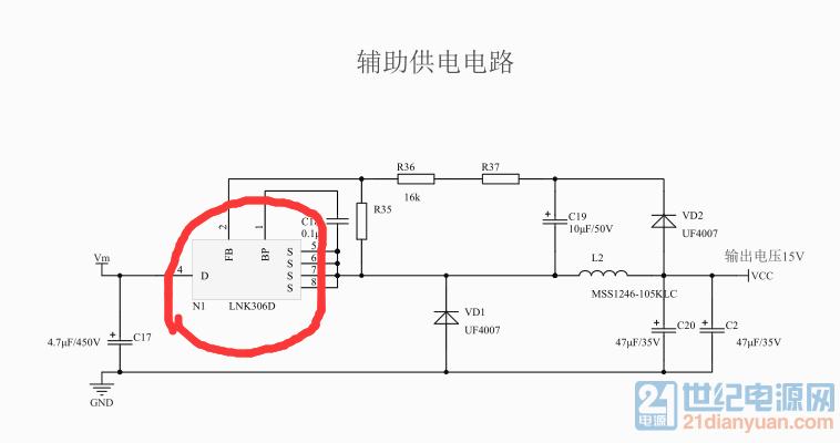 用psim仿真电路图,lnk306d芯片找不到怎么办,有什么可以替代的吗?