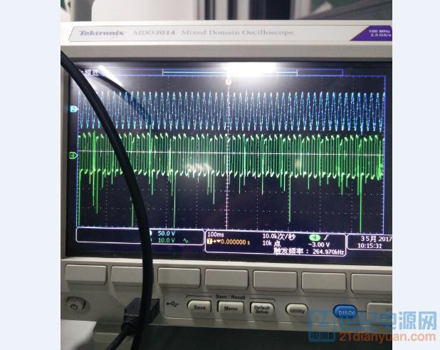 绿色的是Vgs,这是62V输入的波形