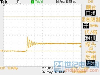 示波器TBS1102:20M带宽下所测