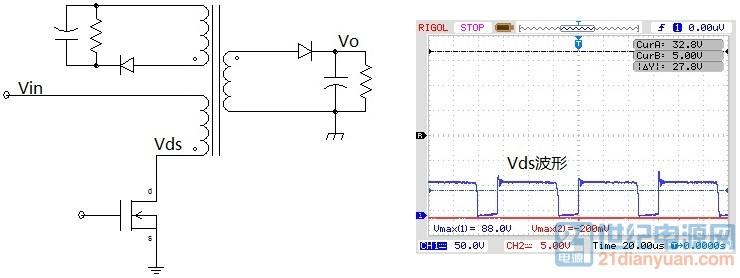 1并绕RCD电路及波形.jpg