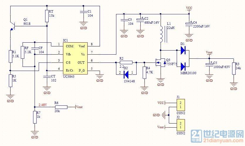 控制回路和主回路分开焊接的,控制回路器件参数和图上一样,7管脚和电压采样接起来了(想模拟一个反馈电压)。上电后,调节滑动变阻器pwm输出不变,测电压8脚+5.00v,反馈电压+2.5v左右变化,3级管下端+1.60v,3管脚+0.26v,7管脚+11.9v供电。 第一次做开关电源,原理理解并不十分透彻,检查纠错方法也不没经验。望大佬们指点一二。
