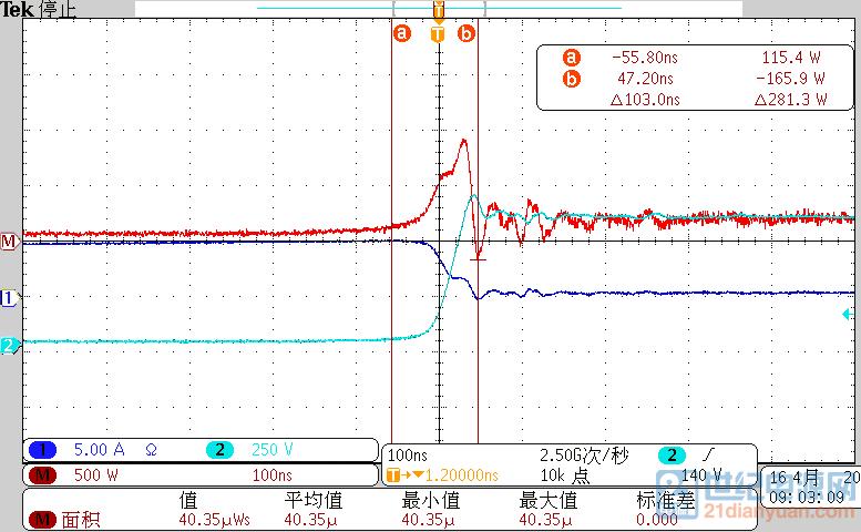 MOS关断损耗(1150Vdc)