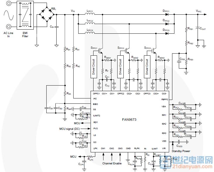 10问答币     用fan9673做apfc电路,我用示波器测试整流桥后面的电压