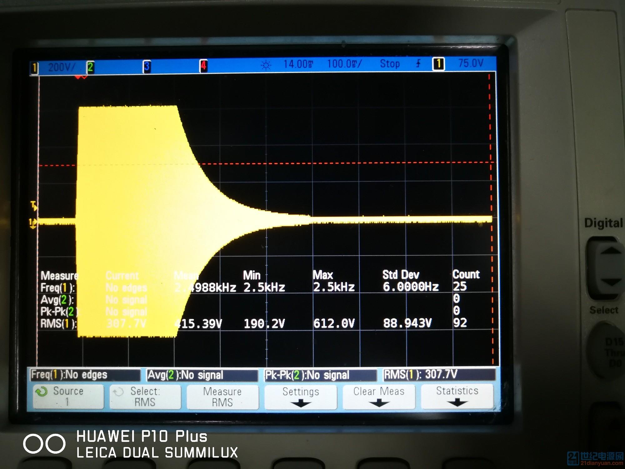 图 五 炸机时,脉冲电压波形