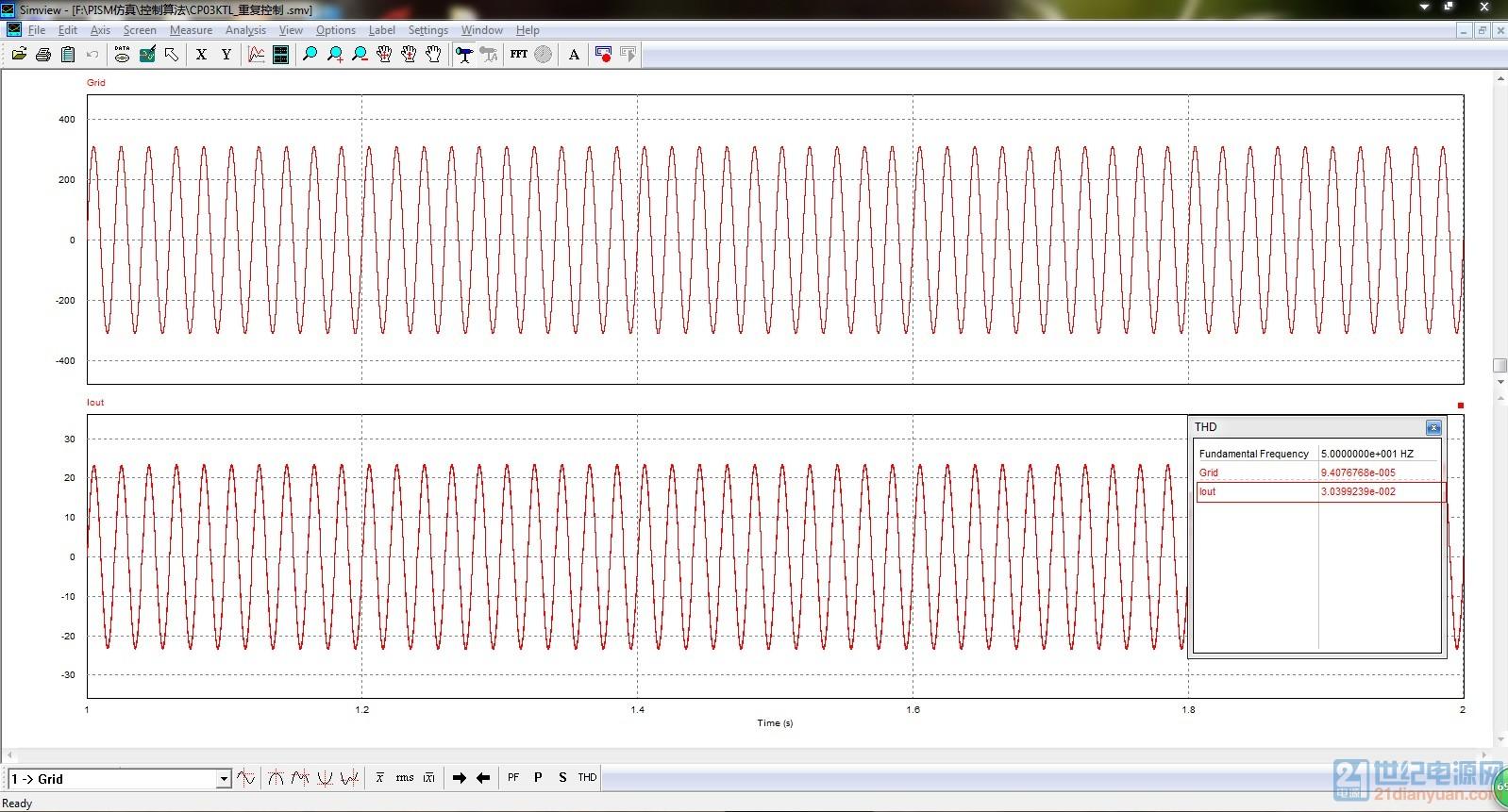 不加重复控制电流谐波.jpg