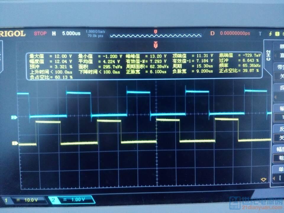 芯片输出波形