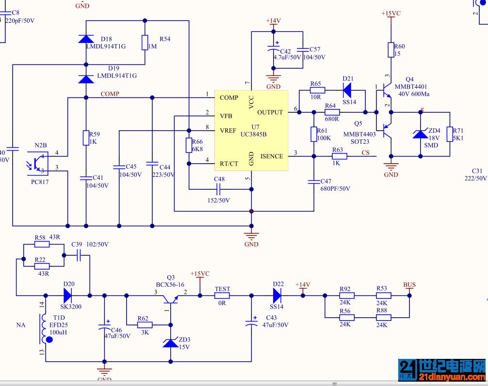 新手请教uc3845b做正激电源不能启动