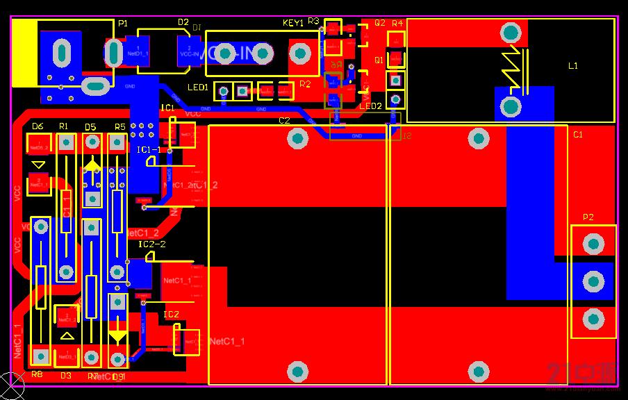 PCB背面图