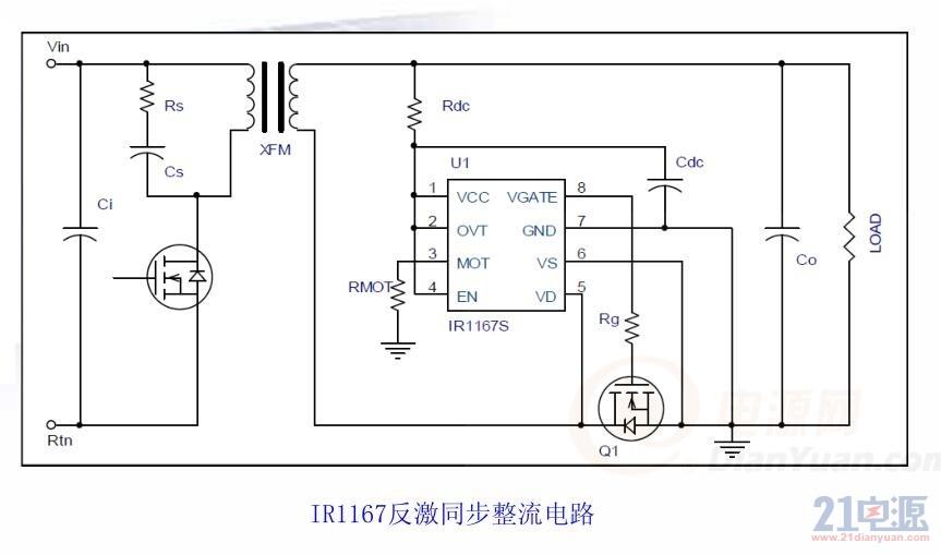 反激式控制IC驱动式同步整流