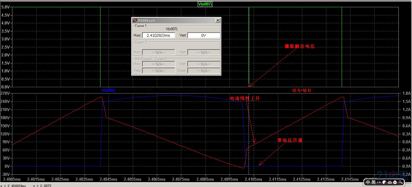 主功率MOS的节点波形
