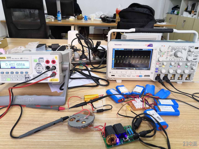 电流值及接收线圈波形