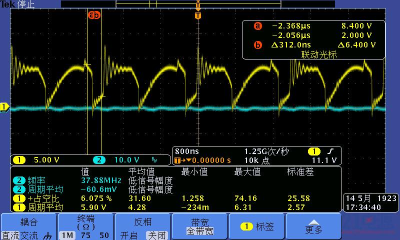 变压器次级侧中间抽头波形