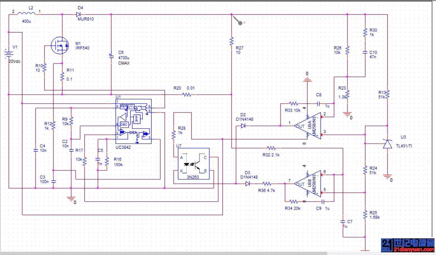 求助各位老师,uc3842做的升压恒流电路,恒流恒压都不起作用