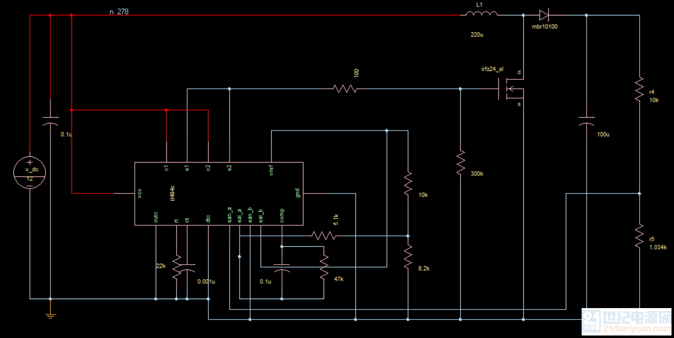tl494仿真boost电路
