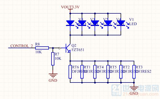 绿光部分电路原理图