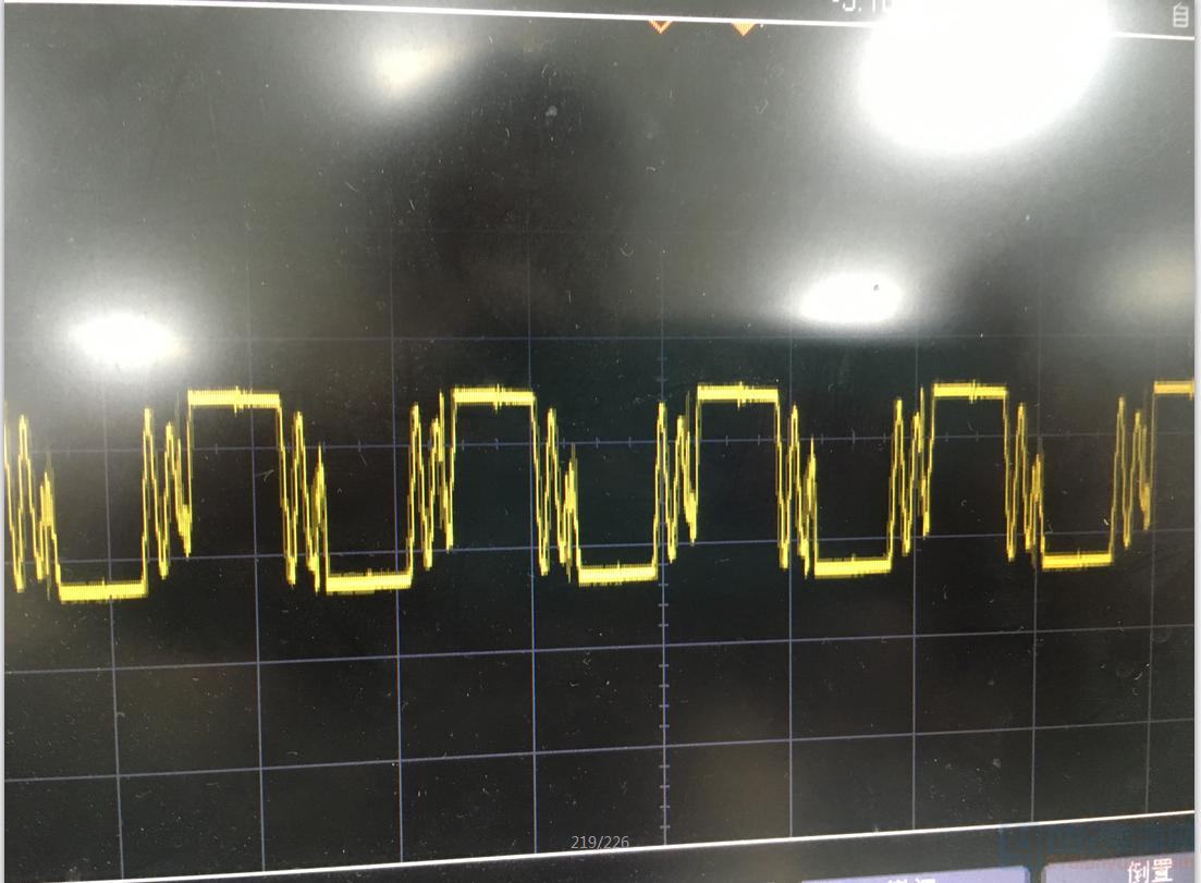 轻载时的输出二极管波波