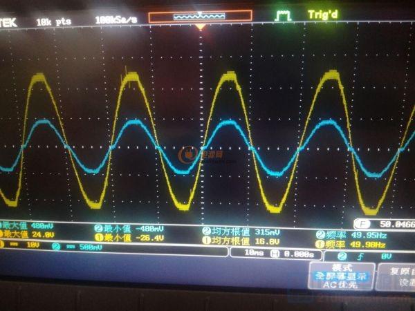 输入电流和电压波形