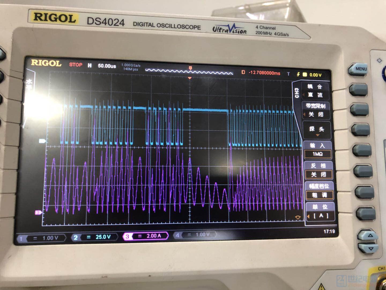 这是重载时工作在临界模式,电感电流和开关管的波形