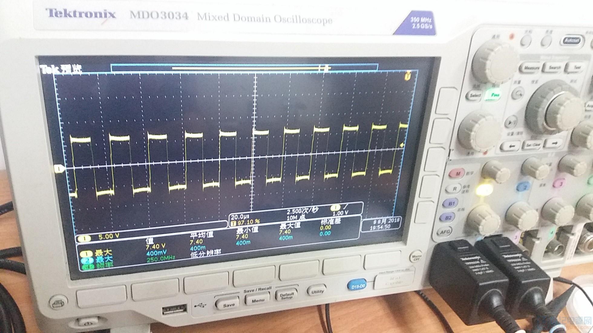 电感两端电压波形