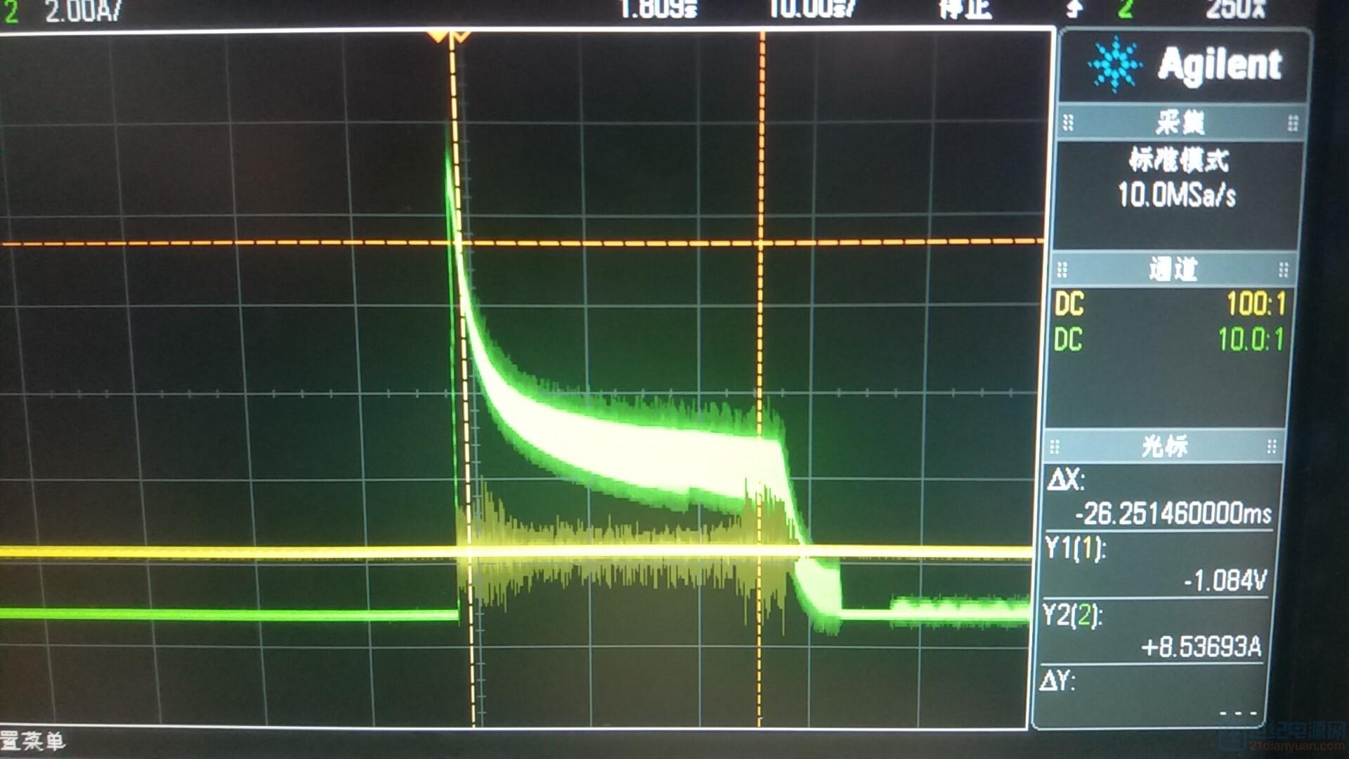 次边电流波形