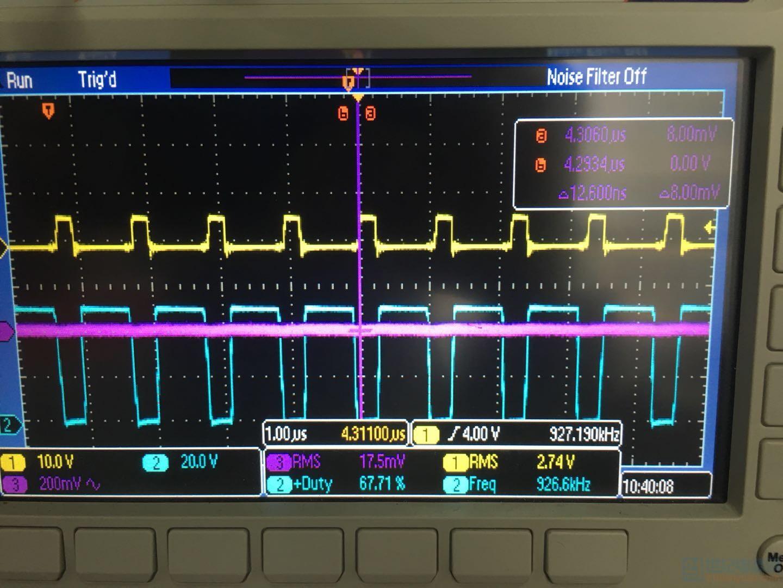 高输出电压时驱动波形