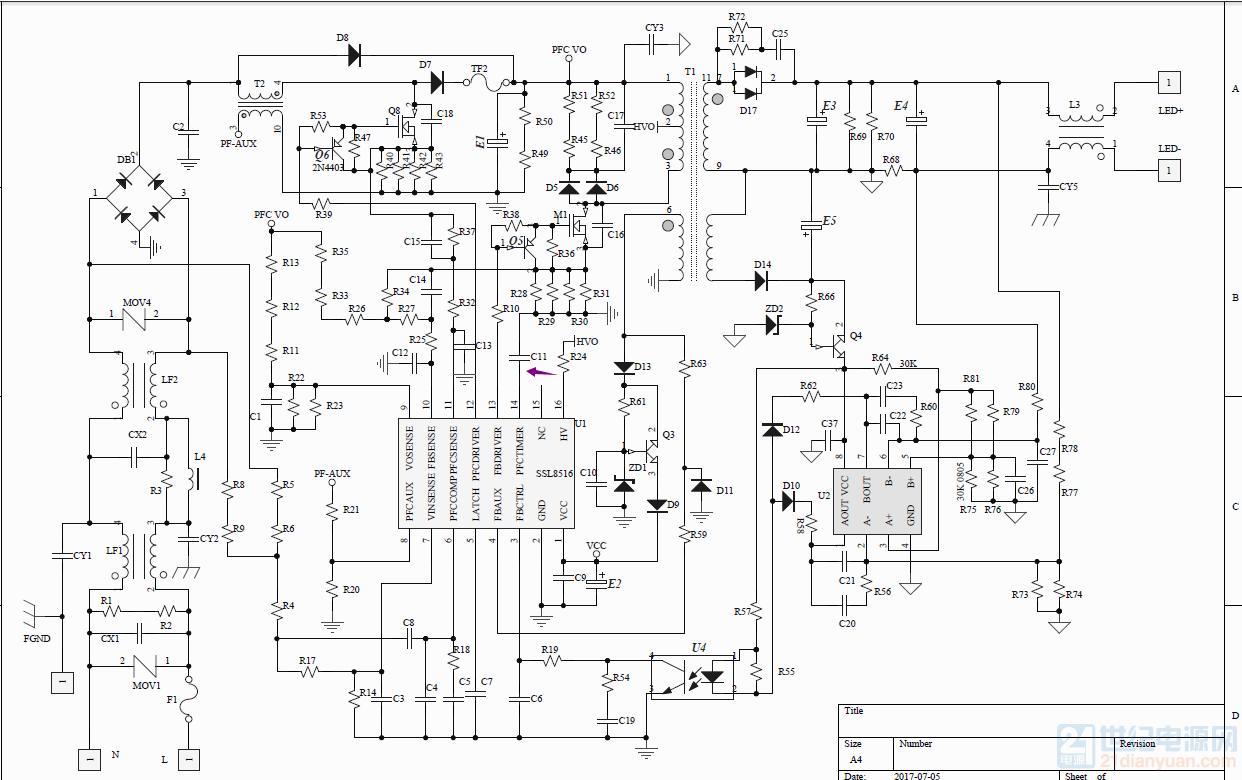 (NXP)TEA1755T替代SSL8516T