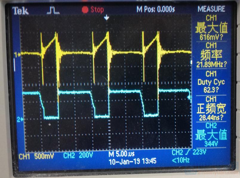 采样电阻上的波形