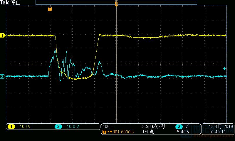 这是另一版pcb的波形,情况稍微好一点