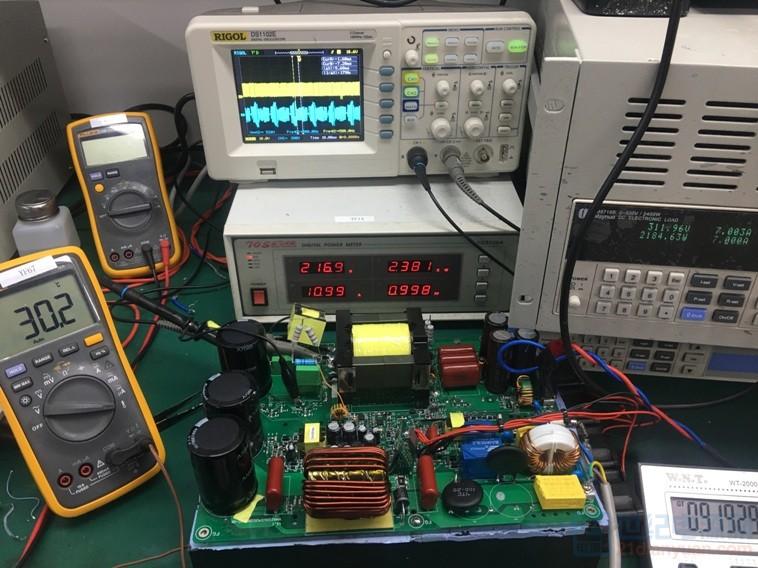这是一个充电电源,其中绿色波形是LLC的Cr波形,不能进入连续模式。请问如何处理,才能进入状态。 ... ...
