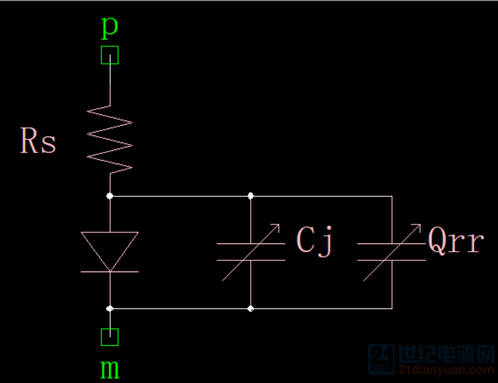 图1.4 Diode等效电路模型