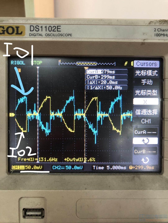 这是IO1和IO2的波形