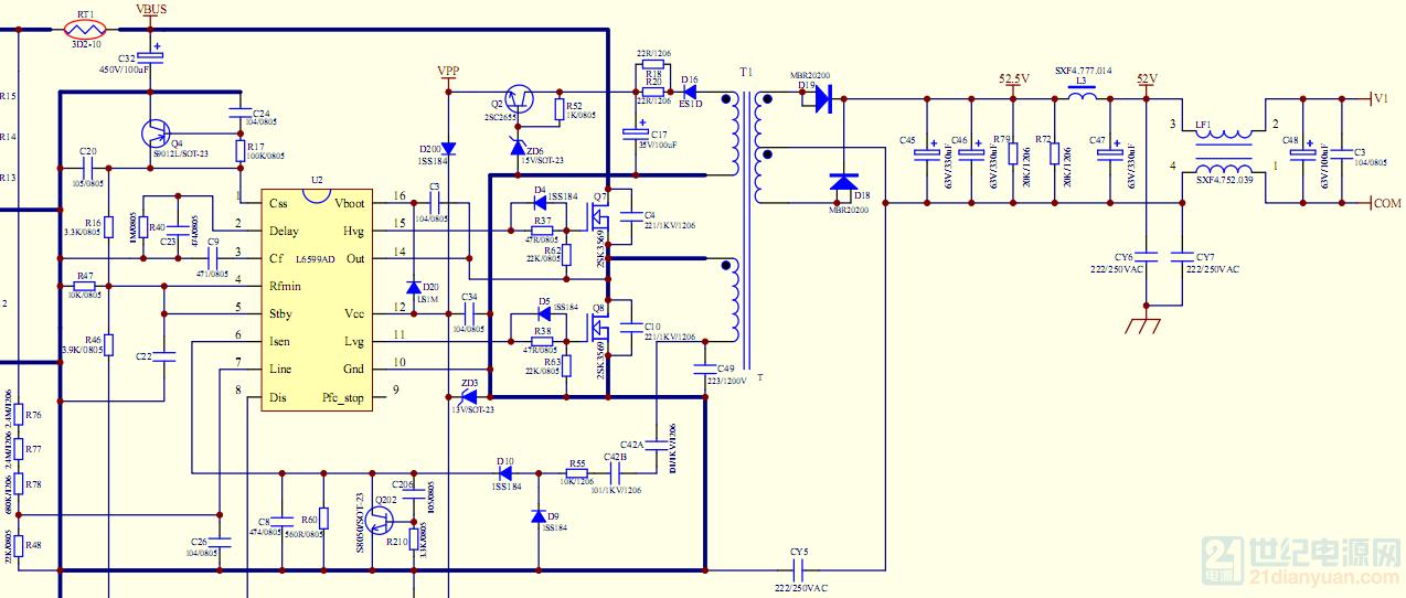 llc电路中输出短路几次后l6599ad的vcc脚对地短路