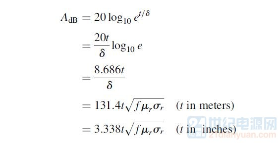 吸收损耗的公式