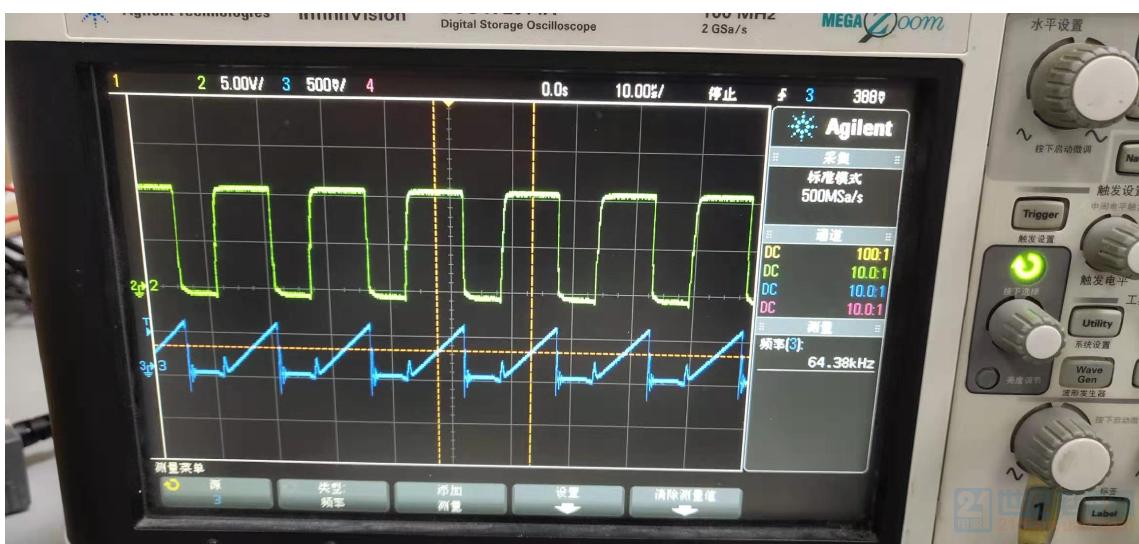 AC70输入,5W输出时的VGS和CS波形