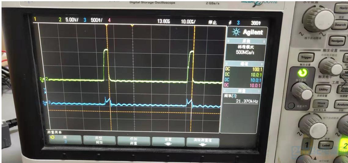 AC70输入,空载输出时的VGS和CS波形