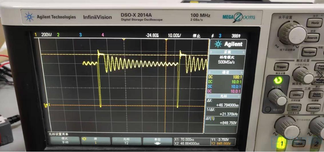 AC500V输入空载时VDS波形