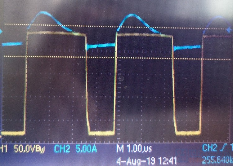 整流管电流和氮化镓波形