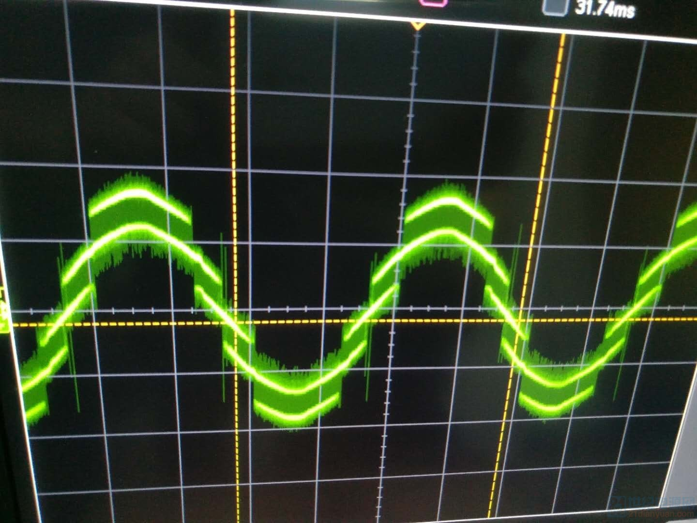 最后看一张逆变输出电流波形