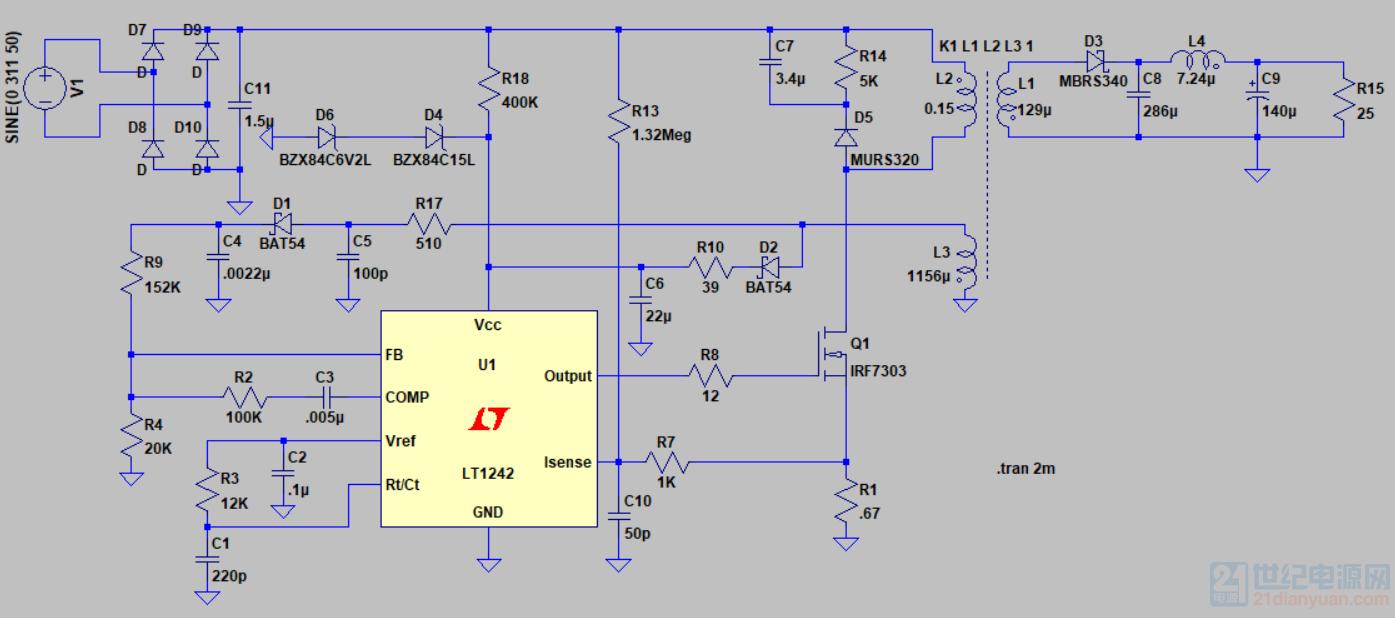 LT1242反激电路